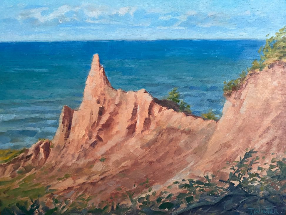 Chimney Bluffs Oil Painting