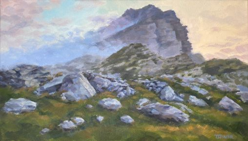 Julian Alps at Dusk Painting