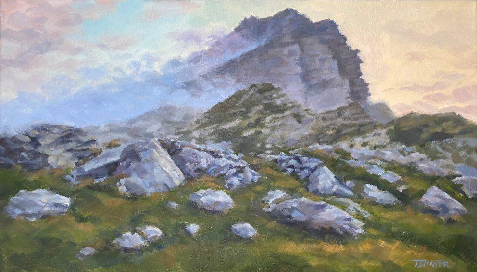 Julian Alps at Dusk Painting