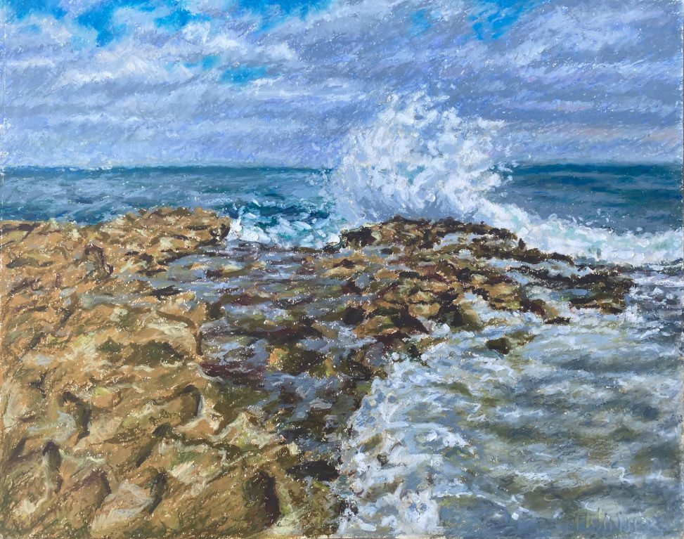Rising over the reef painting