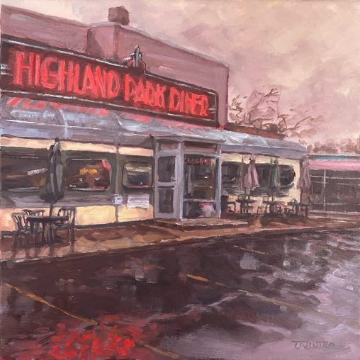 Painting of Highland park Diner