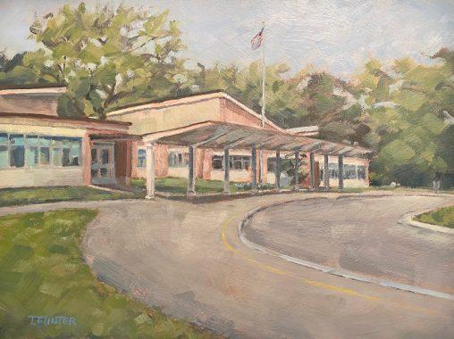 Painting of Jefferson Road Elementary School