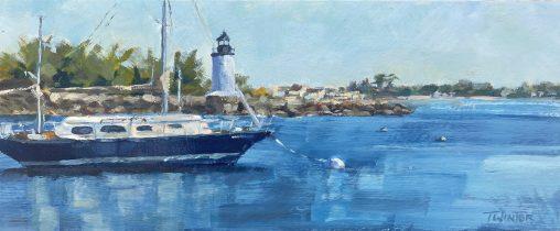 Painting of Salem Lighthouse